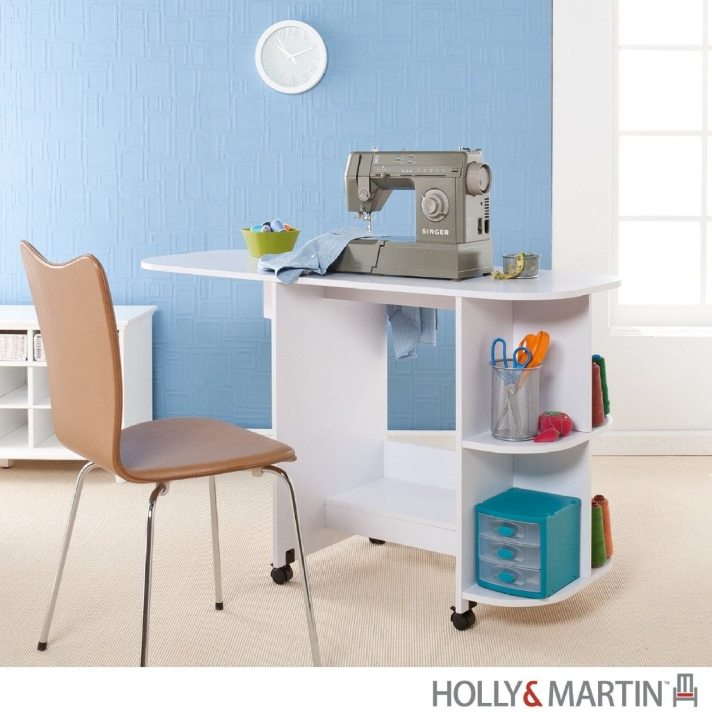 Holly & Martin Lydia White Sewing MachineTable