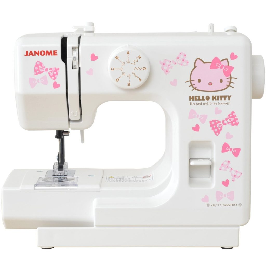 Janome Hello Kitty compact white sewing machine KT-W