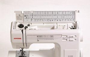 Janome HD3000 Heavy Duty Sewing Machine - Stitches