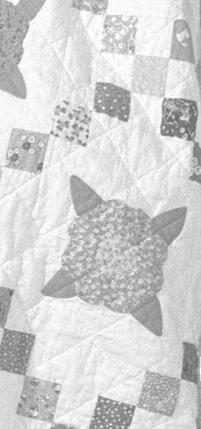 """Quilt shown is Quiltsmart """"Blossom"""" pattern"""